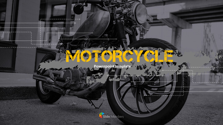 오토바이 PowerPoint 템플릿 디자인_01