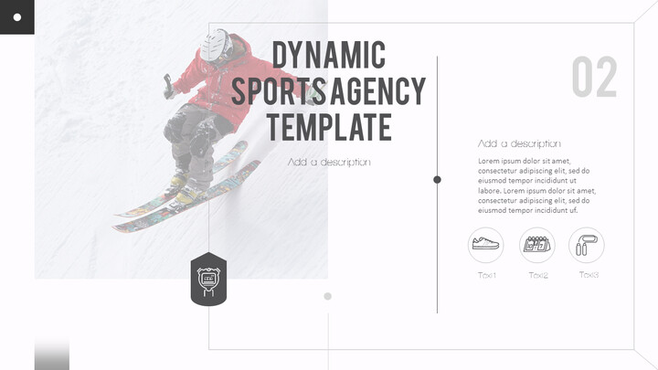 Dynamic Sports Agency PowerPoint Templates for Presentation_02