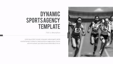 다이나믹 스포츠 에이전시 프레젠테이션용 PowerPoint 템플릿_11