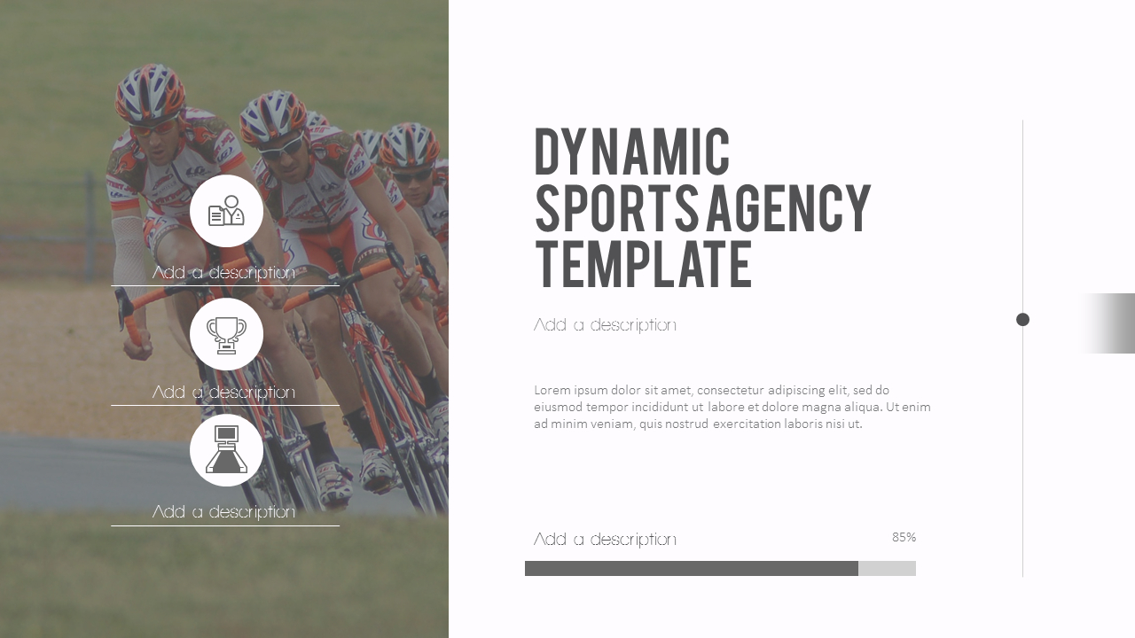 Dynamic Sports Agency Powerpoint Templates For Presentation