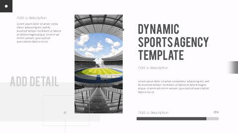 다이나믹 스포츠 에이전시 프레젠테이션용 PowerPoint 템플릿_13
