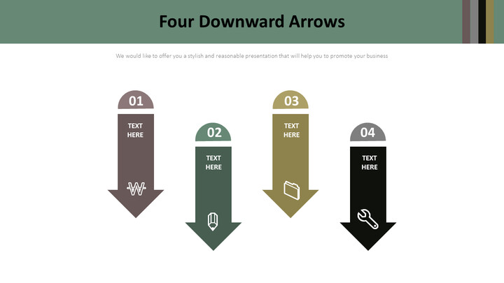 4 개의 아래쪽 화살표 다이어그램_02