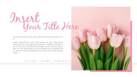 봄 꽃 프레젠테이션 PowerPoint 템플릿 디자인_07