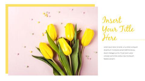 봄 꽃 프레젠테이션 PowerPoint 템플릿 디자인_16