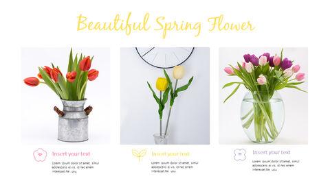 봄 꽃 프레젠테이션 PowerPoint 템플릿 디자인_17