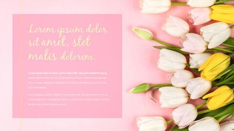 봄 꽃 프레젠테이션 PowerPoint 템플릿 디자인_18