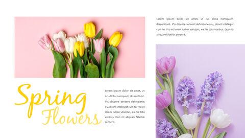 봄 꽃 프레젠테이션 PowerPoint 템플릿 디자인_19