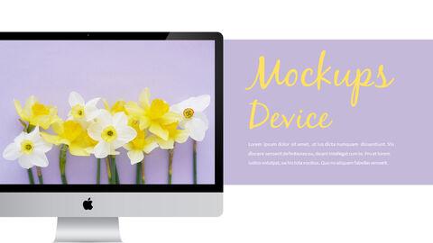 봄 꽃 프레젠테이션 PowerPoint 템플릿 디자인_22