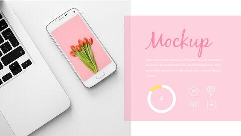 봄 꽃 프레젠테이션 PowerPoint 템플릿 디자인_24