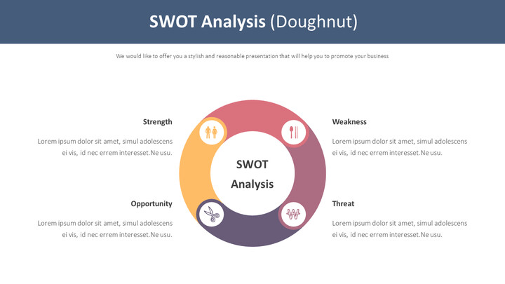 SWOT 분석 다이어그램 (도넛)_01