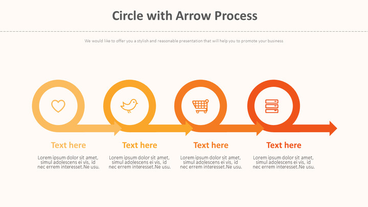 Arrow 프로세스가있는 원 다이어그램_01