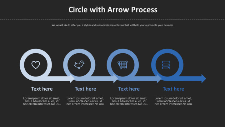 Arrow 프로세스가있는 원 다이어그램_02