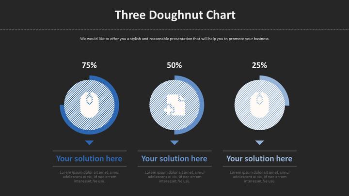 Three Doughnut Chart Diagram_02