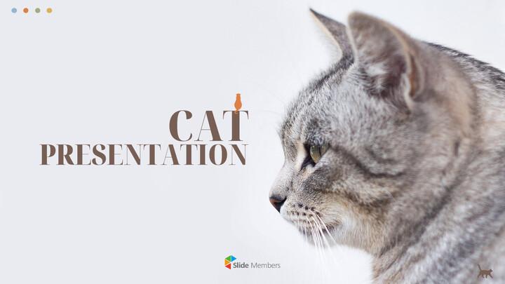 Cat Presentation PowerPoint Templates Design_01