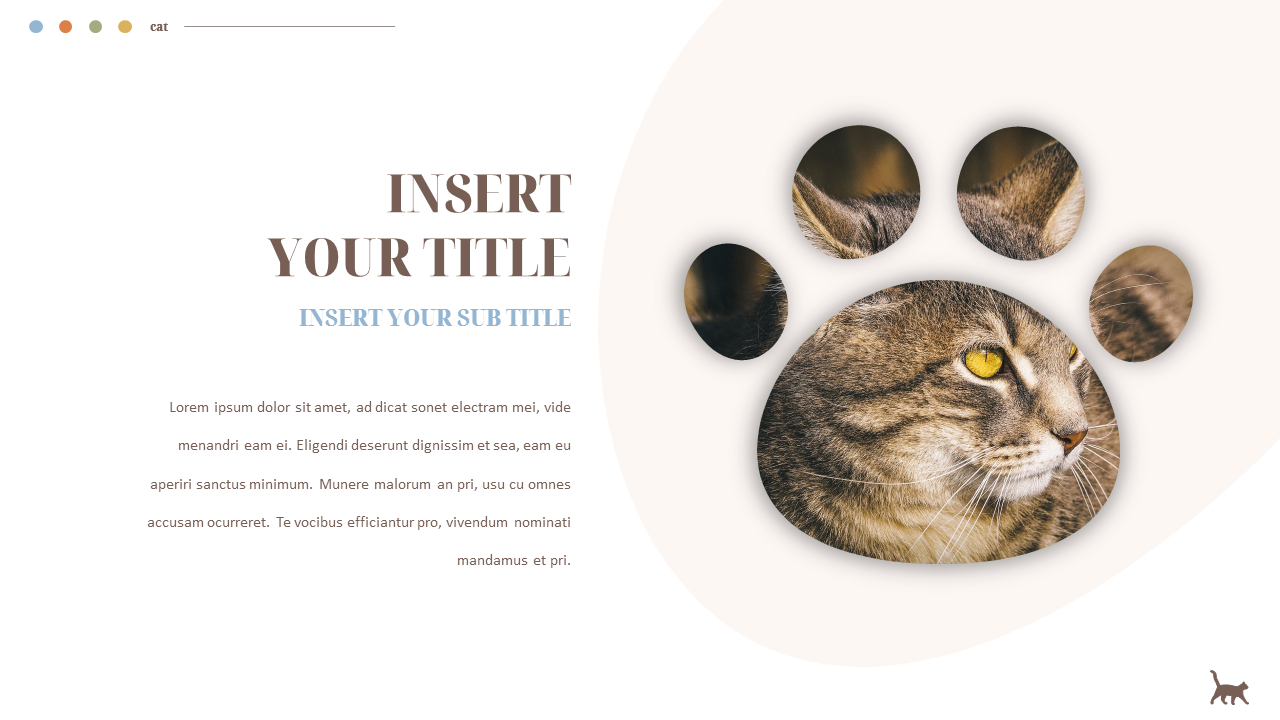 Cat Presentation Powerpoint Templates Design