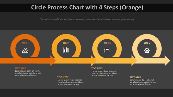 4 단계 원 프로세스 다이어그램 (주황색)_01