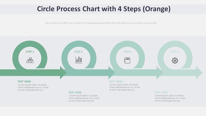 4 단계 원 프로세스 다이어그램 (주황색)_02