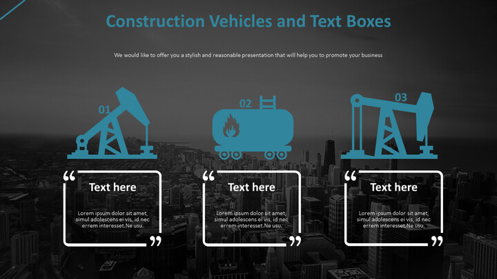 Construction Vehicles and Text Boxes Diagram_01