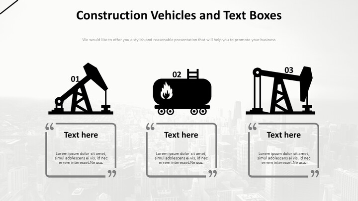 Construction Vehicles and Text Boxes Diagram_02