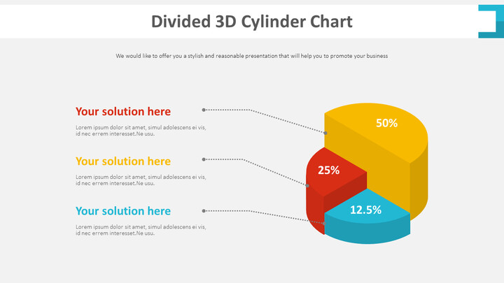 Divided 3D Cylinder Chart Diagram_01