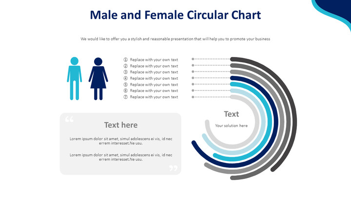 Male and Female Circular Chart Diagram_01