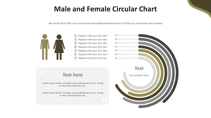 Male and Female Circular Chart Diagram_02