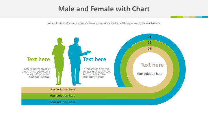 Male and Female with Chart Diagram_01