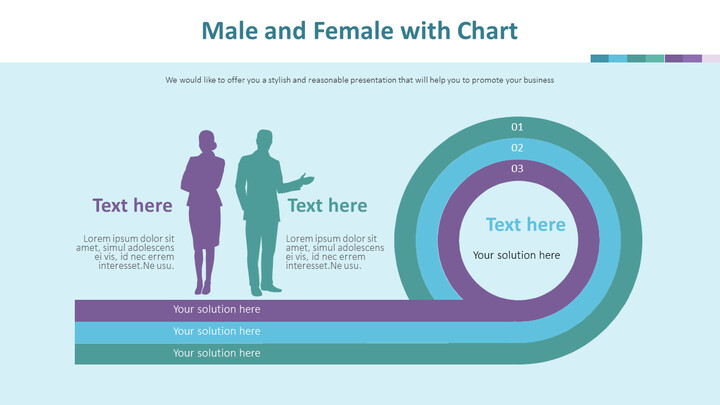 Male and Female with Chart Diagram_02