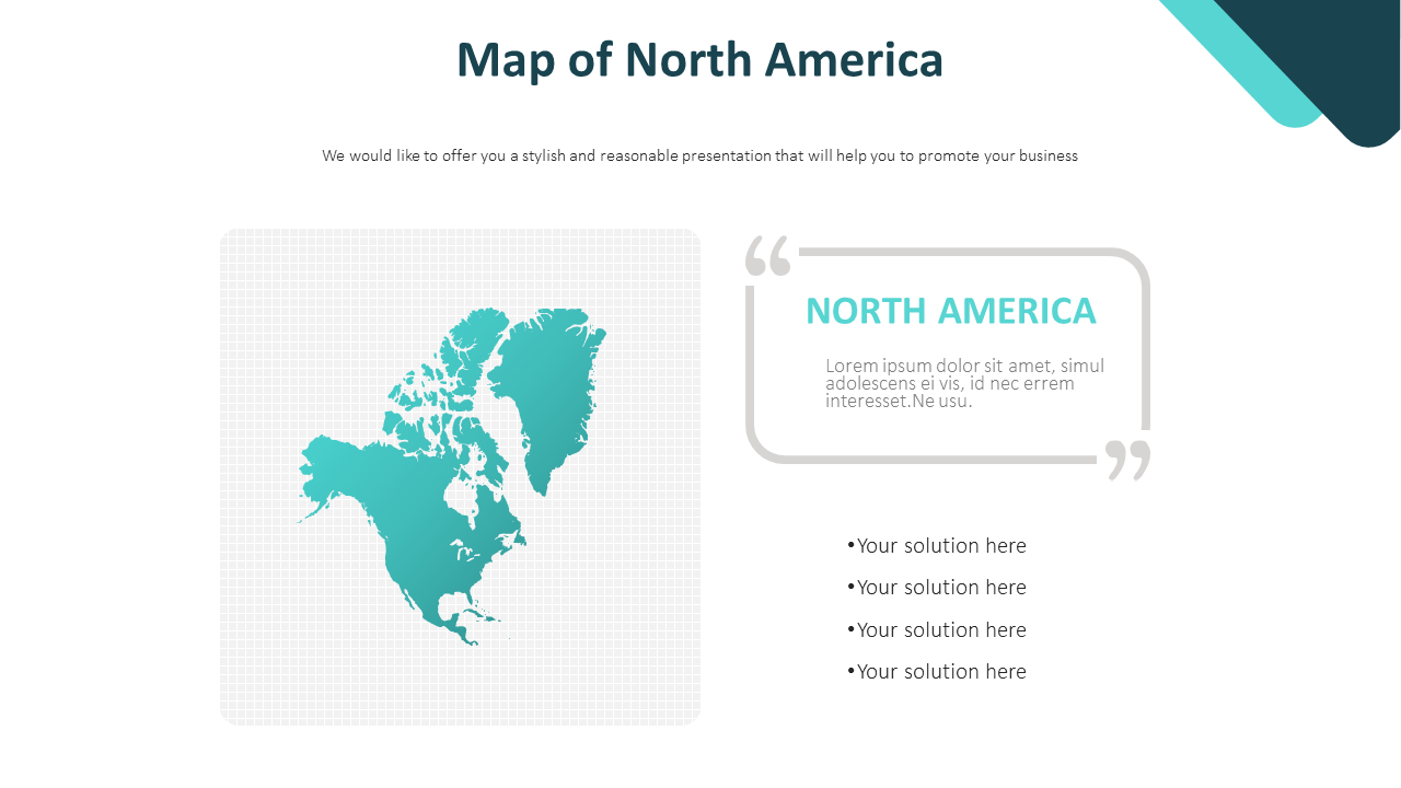 Image of: Map Of North America Diagram