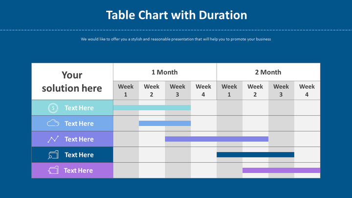 Table Chart with Duration Diagram_01