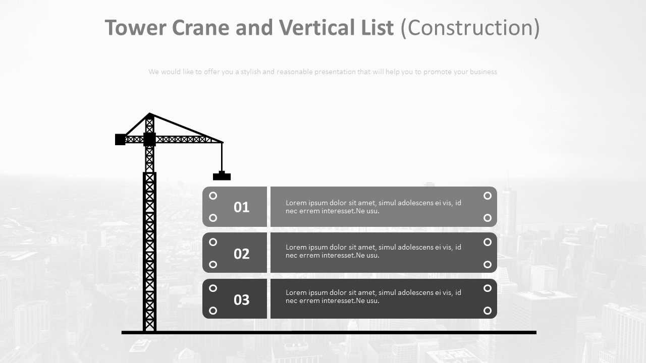 Tower Crane And Vertical List Diagram  Construction