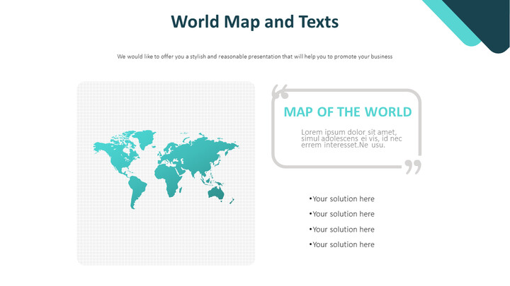World Map and Texts Diagram_01
