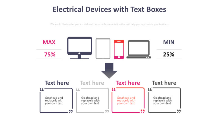 텍스트 박스가있는 전기 장치 다이어그램_01