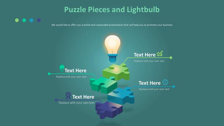 퍼즐 조각과 전구 다이어그램_02