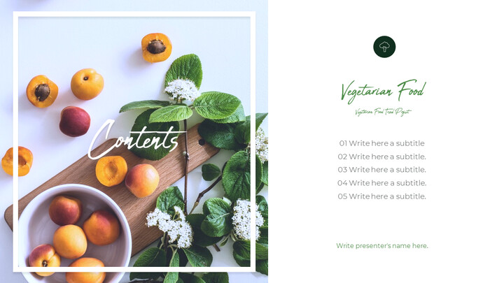 Vegetarian Food PowerPoint Presentation Templates_02