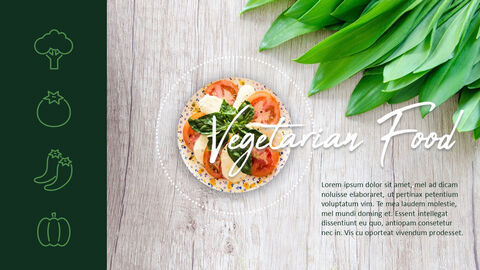 채식주의 자 음식 PowerPoint 프레젠테이션 템플릿_06