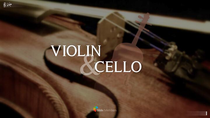 바이올린과 첼로 프레젠테이션 PowerPoint 템플릿 디자인_01