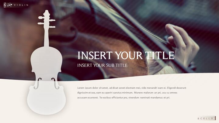 바이올린과 첼로 프레젠테이션 PowerPoint 템플릿 디자인_02