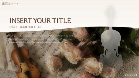 바이올린과 첼로 프레젠테이션 PowerPoint 템플릿 디자인_03