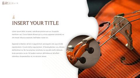 바이올린과 첼로 프레젠테이션 PowerPoint 템플릿 디자인_13