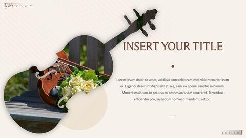 바이올린과 첼로 프레젠테이션 PowerPoint 템플릿 디자인_19