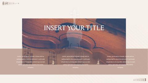 바이올린과 첼로 프레젠테이션 PowerPoint 템플릿 디자인_23