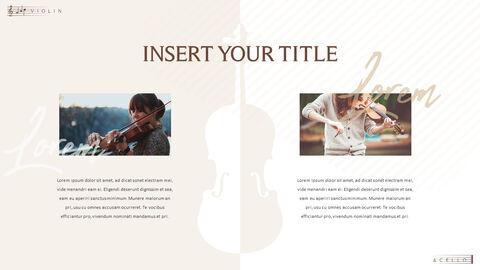 바이올린과 첼로 프레젠테이션 PowerPoint 템플릿 디자인_25