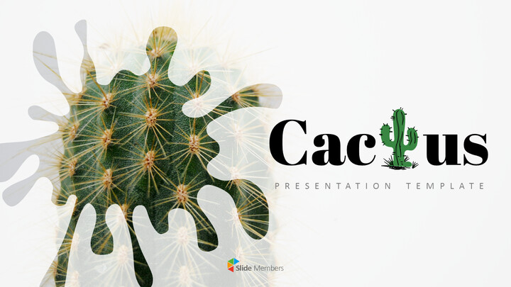 Cactus Simple PowerPoint Template Design_01