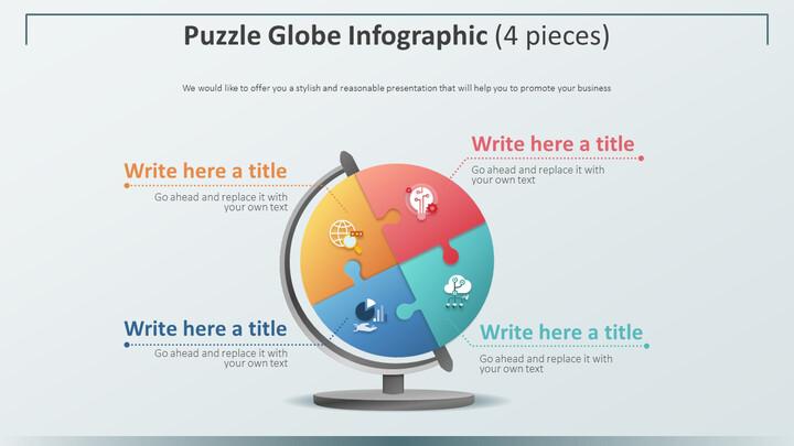 퍼즐 글로브 인포 그래픽 다이어그램 (4 개)_01