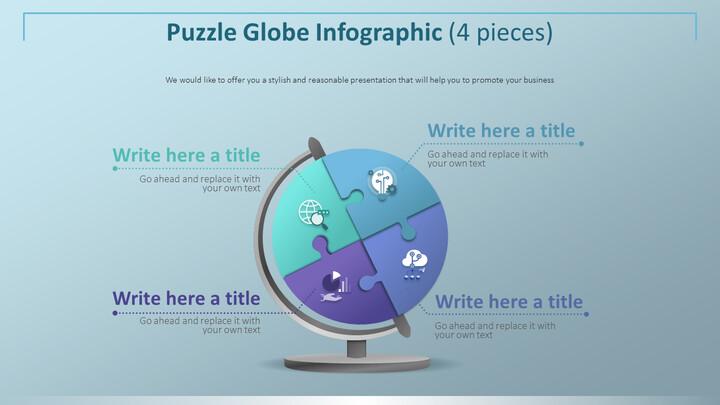 퍼즐 글로브 인포 그래픽 다이어그램 (4 개)_02