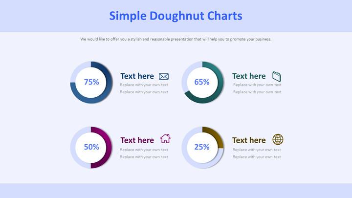 Simple Doughnut Charts Diagram_02
