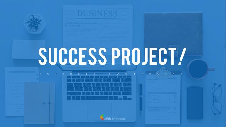 성공 프로젝트 PowerPoint 템플릿 디자인_01