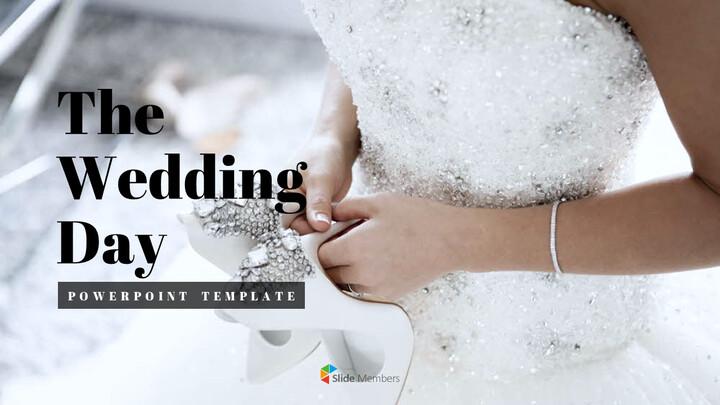 결혼식 날 심플한 파워포인트 템플릿_01