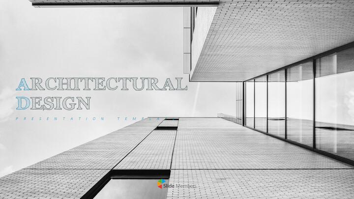 건축 설계 편집이 쉬운 프레젠테이션 템플릿_01